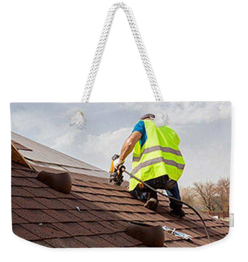 Roofing Contractors Morgantown Wv Weekender Tote Bag featuring the digital art Roof Repair Morgantown Wv by Roof Repair Morgantown WV