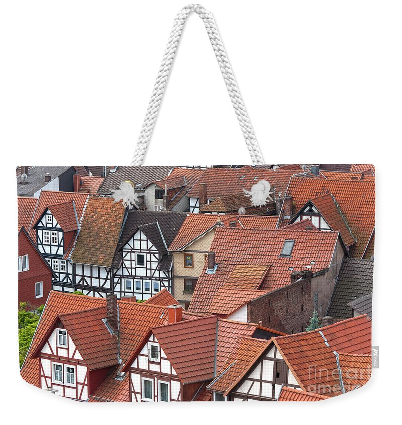 Deutschland Weekender Tote Bag featuring the photograph Roofs Of Bad Sooden-allendorf by Heiko Koehrer-Wagner