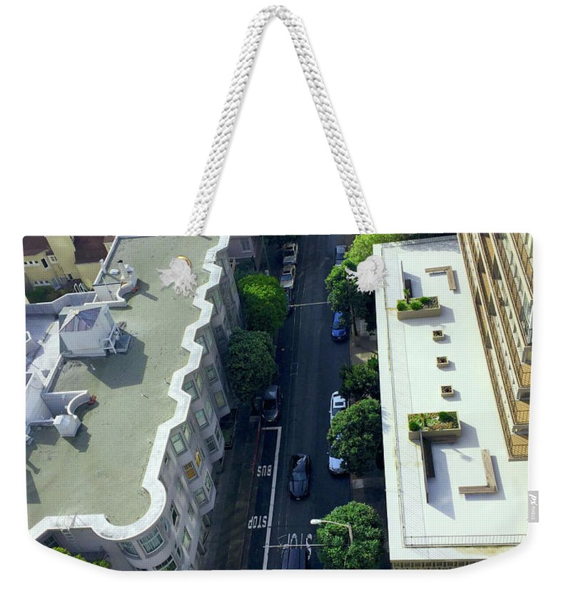 Landscape Weekender Tote Bag featuring the photograph Rooftop View by Bennett Sothman