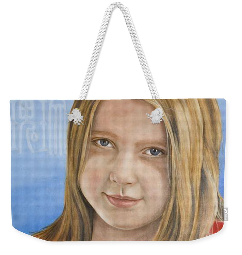 Portrait Weekender Tote Bag featuring the painting Roos by Rob De Vries