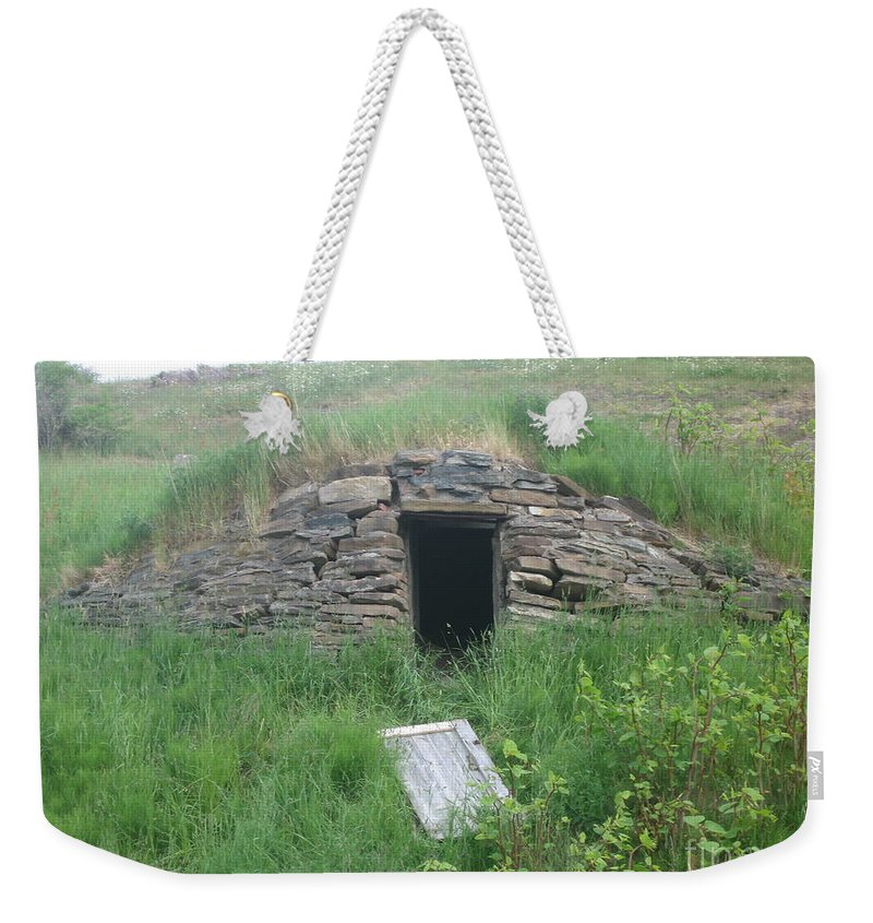 Photograph Cellar Old Green Newfoundland Weekender Tote Bag featuring the photograph Root Cellar by Seon-Jeong Kim