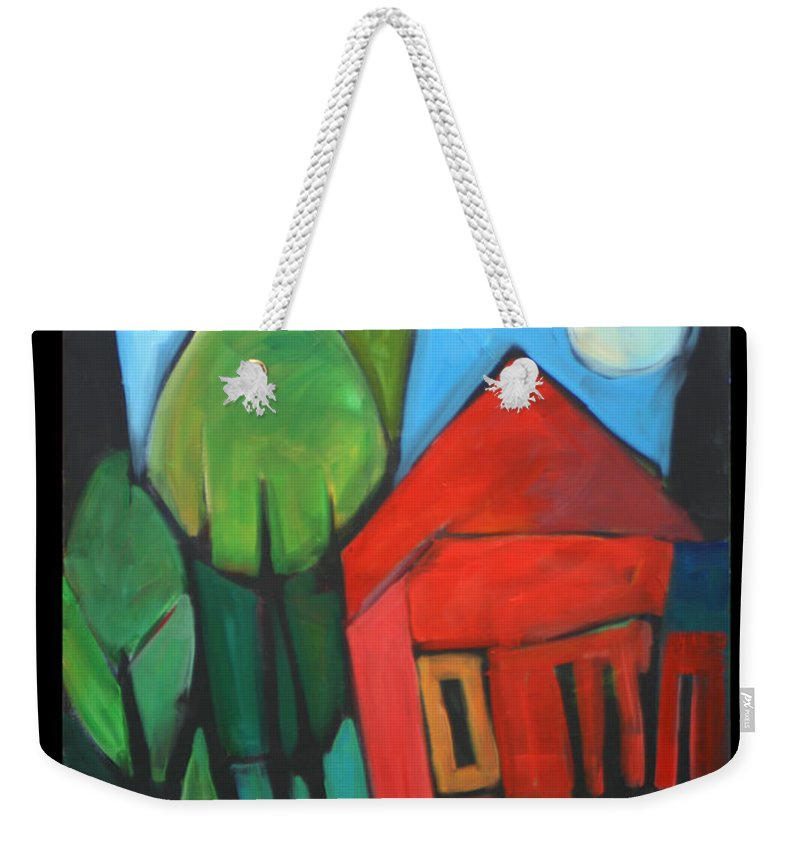 Trees Weekender Tote Bag featuring the painting Root Cellar by Tim Nyberg