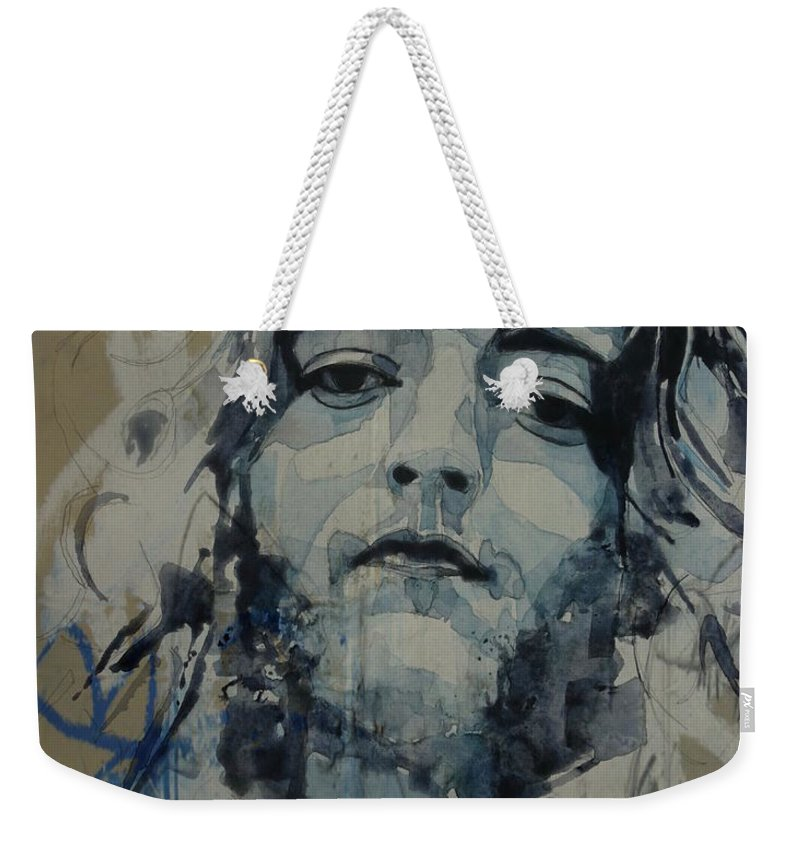 Rory Gallagher Weekender Tote Bag featuring the mixed media Rory Gallagher by Paul Lovering