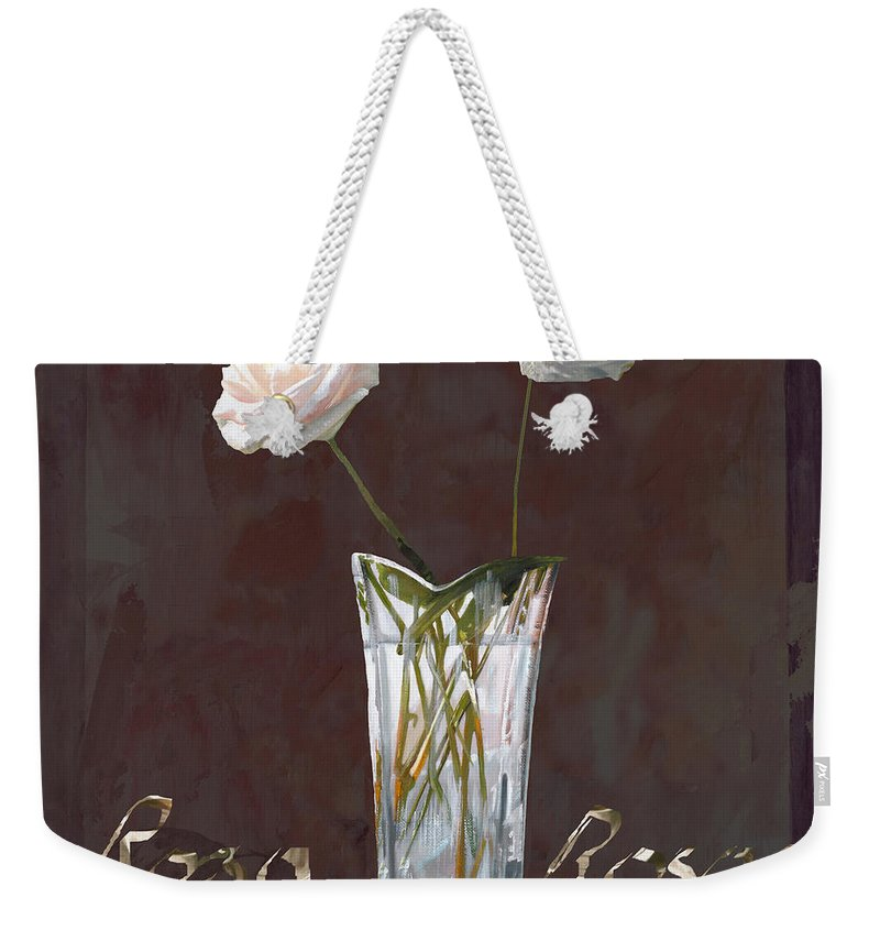 Rasa Weekender Tote Bag featuring the painting Rosa Rosae by Guido Borelli