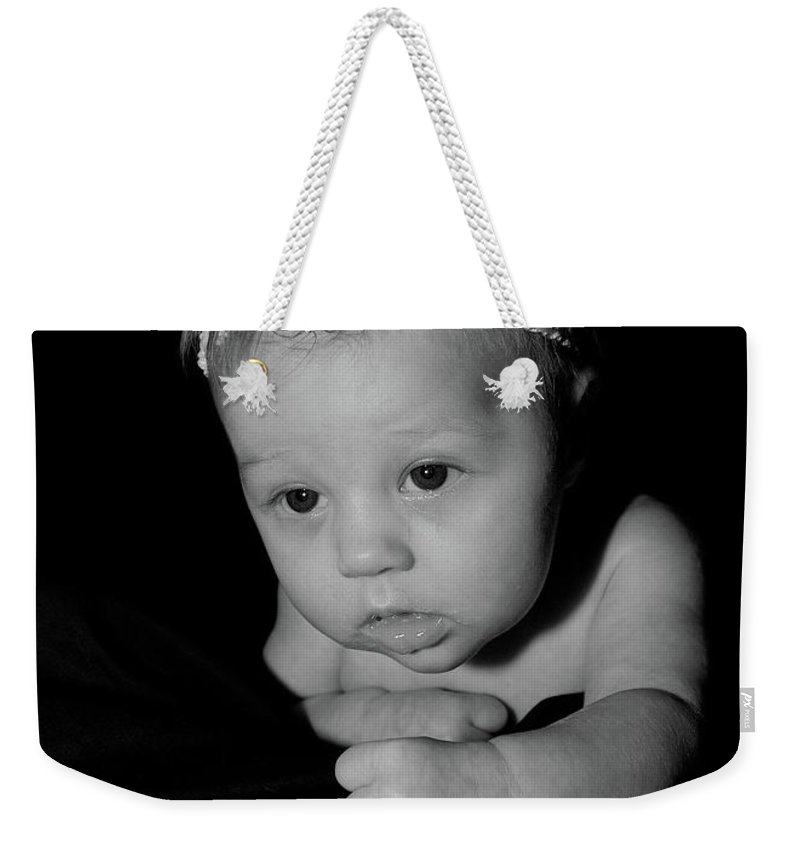 Weekender Tote Bag featuring the photograph Rosalie by Michael Peychich
