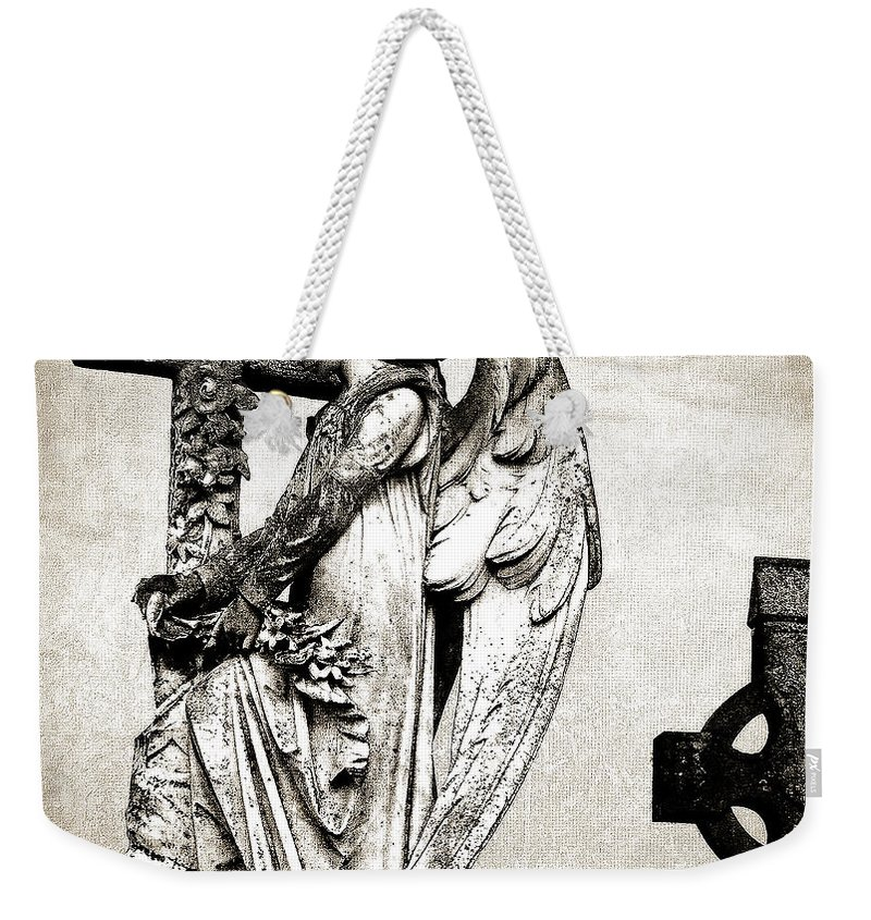 Ireland Weekender Tote Bag featuring the photograph Roscommon Angel No 1 by Teresa Mucha