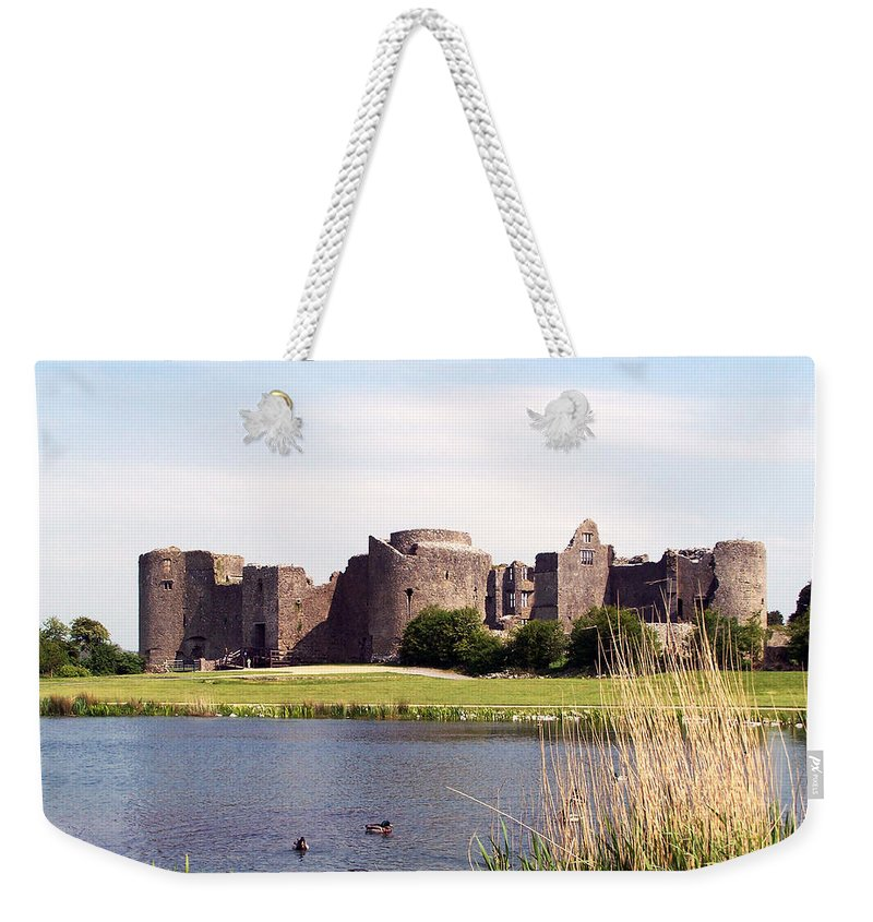 Roscommon Weekender Tote Bag featuring the photograph Roscommon Castle Ireland by Teresa Mucha