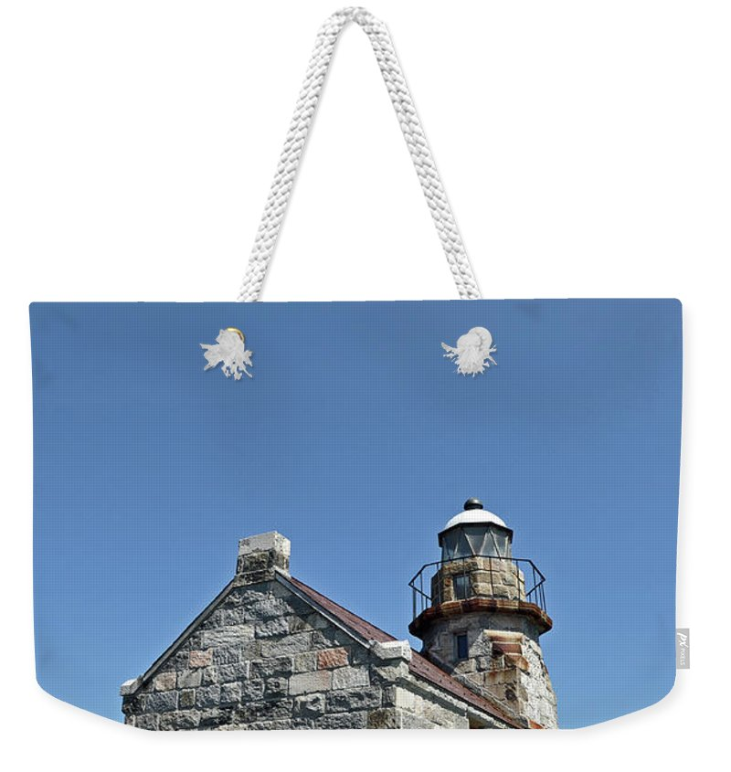 Rose Blanche Weekender Tote Bag featuring the photograph Rose Blanche Lighthouse II by Colleen English