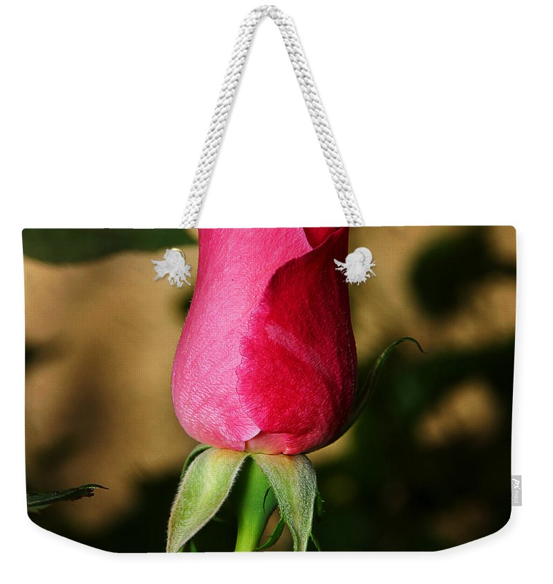 Rose Weekender Tote Bag featuring the photograph Rose Bud by Anthony Jones
