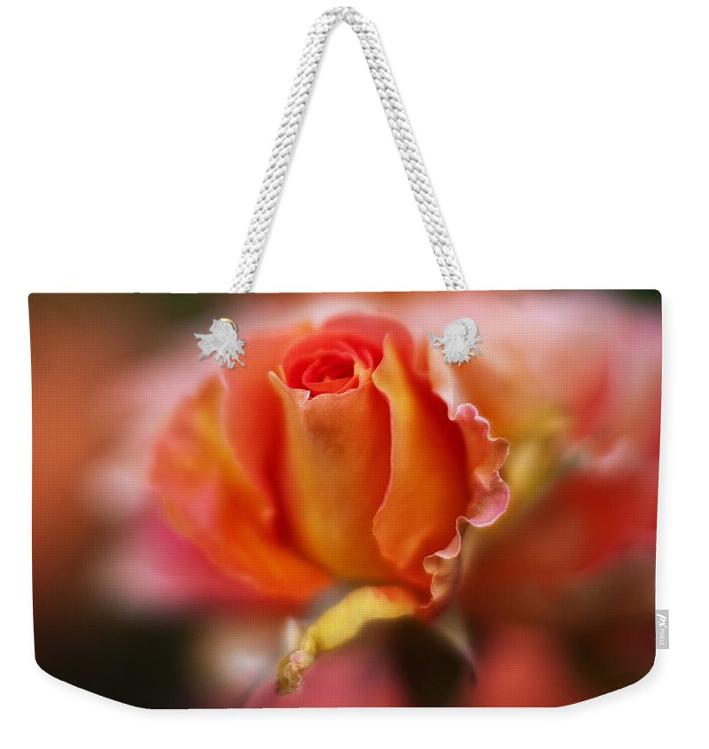 Rose Weekender Tote Bag featuring the photograph Rose Centerpiece by Mike Reid