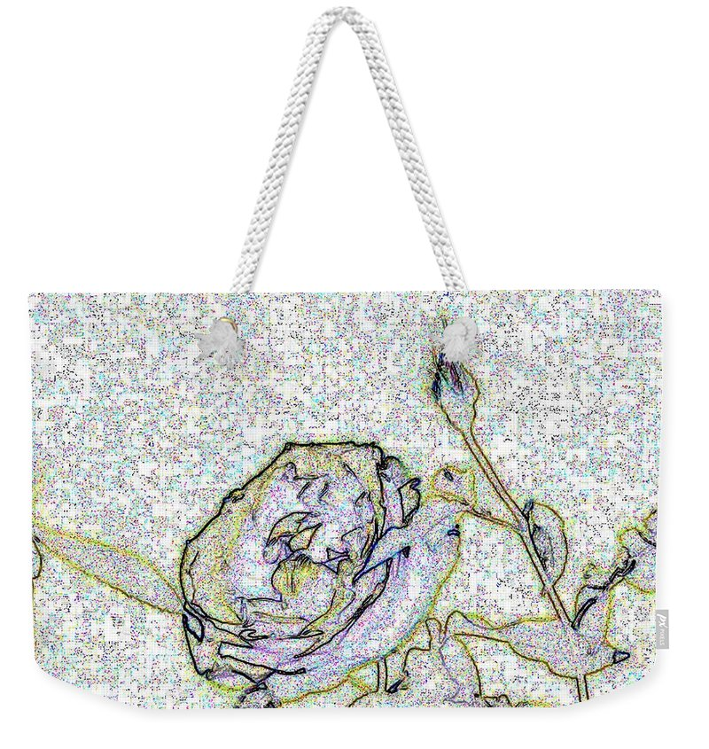 Rose Weekender Tote Bag featuring the photograph Rose For U by Tim Allen