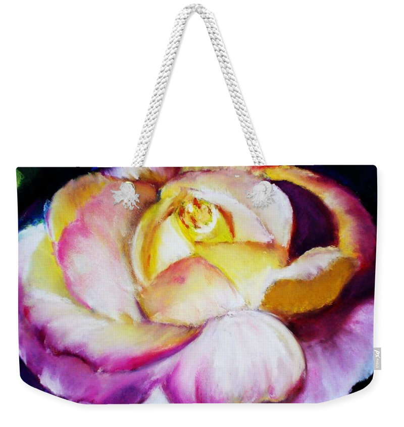 Rose Weekender Tote Bag featuring the print Rose by Melinda Etzold