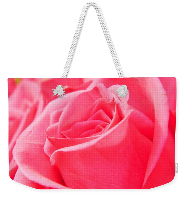 Roses Weekender Tote Bag featuring the photograph Rose Petals - 1 by Arlane Crump