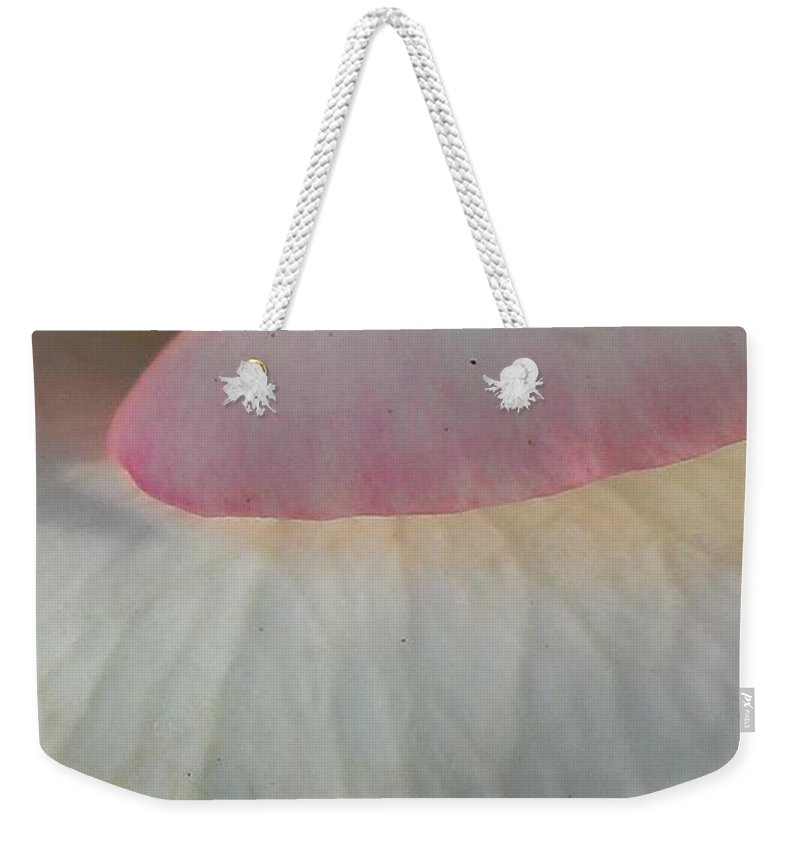 Rose Weekender Tote Bag featuring the photograph Rose Petals by LKB Art and Photography