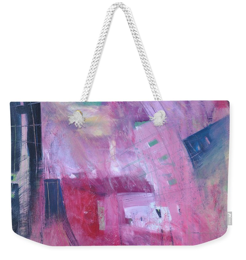 Rose Weekender Tote Bag featuring the painting Rose Room by Tim Nyberg