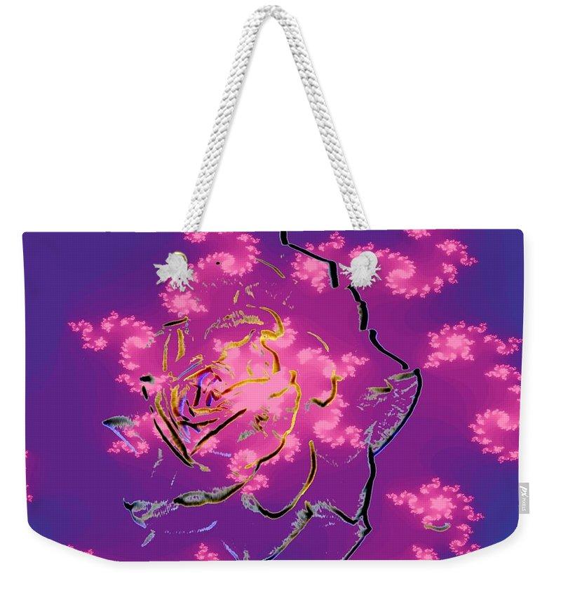 Rose Weekender Tote Bag featuring the digital art Rose by Tim Allen