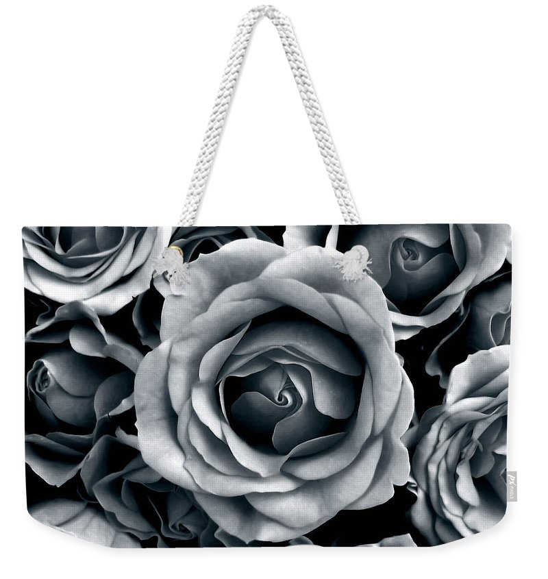 Flower Weekender Tote Bag featuring the photograph Rose Tones by Jessica Jenney