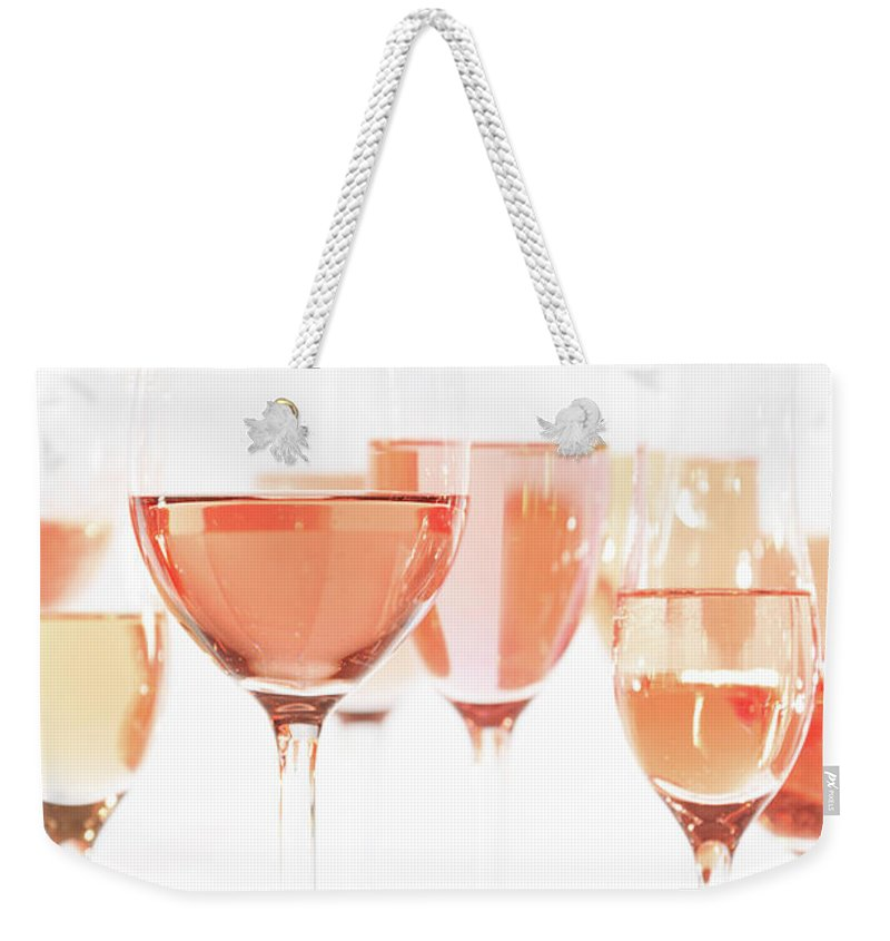 Refreshment Weekender Tote Bag featuring the photograph Rose Universe by Ekaterina Molchanova