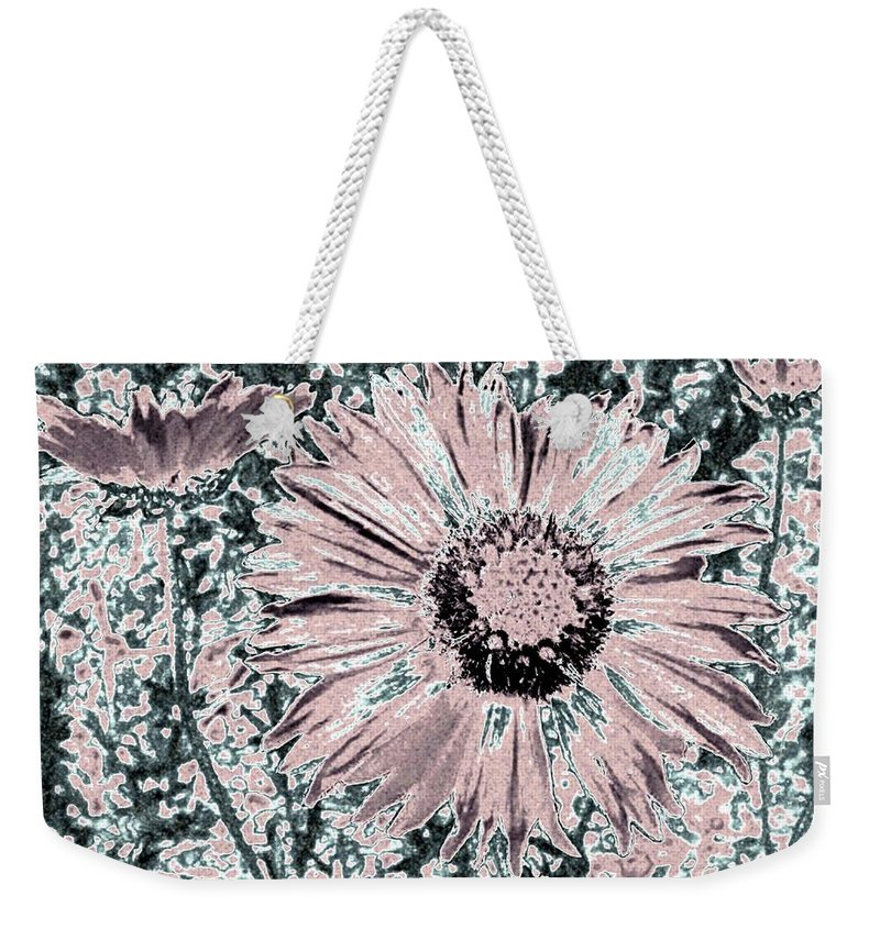 Daisies Weekender Tote Bag featuring the digital art Rose Wine Daisies by Will Borden