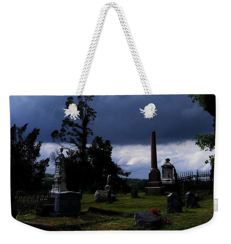 Landscape Weekender Tote Bag featuring the photograph Roses After The Storm by Rachel Christine Nowicki