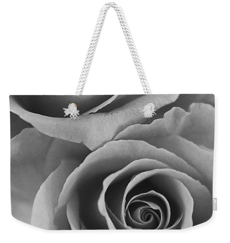 Roses Weekender Tote Bag featuring the photograph Roses Black And White by Jill Reger