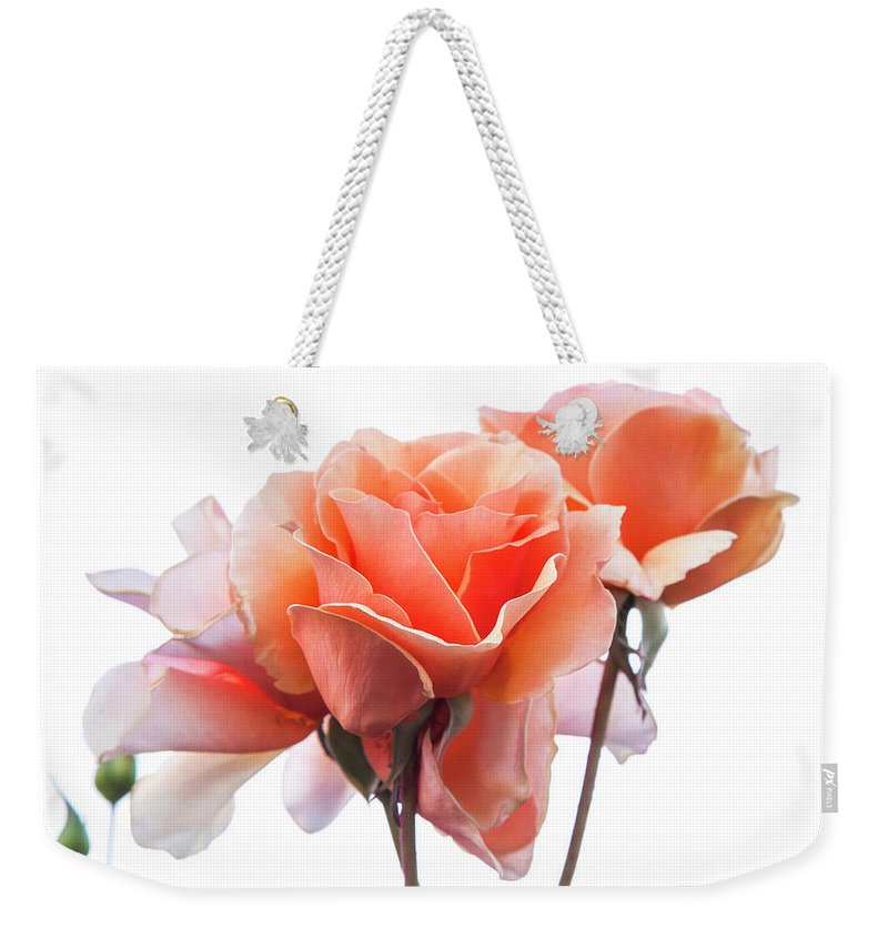 Rose Weekender Tote Bag featuring the photograph Roses For You by Soroush Mostafanejad