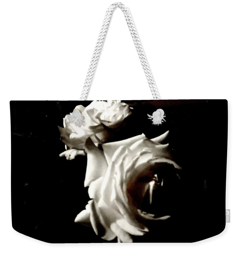 Diane M Dittus Weekender Tote Bag featuring the photograph Roses In Moonlight 8 by Diane M Dittus