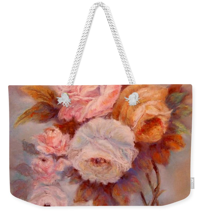 Roses Weekender Tote Bag featuring the painting Roses Study by Loretta Luglio