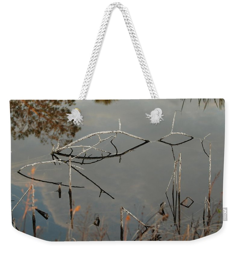 Pink Weekender Tote Bag featuring the photograph Rosey Bridge by Rob Hans