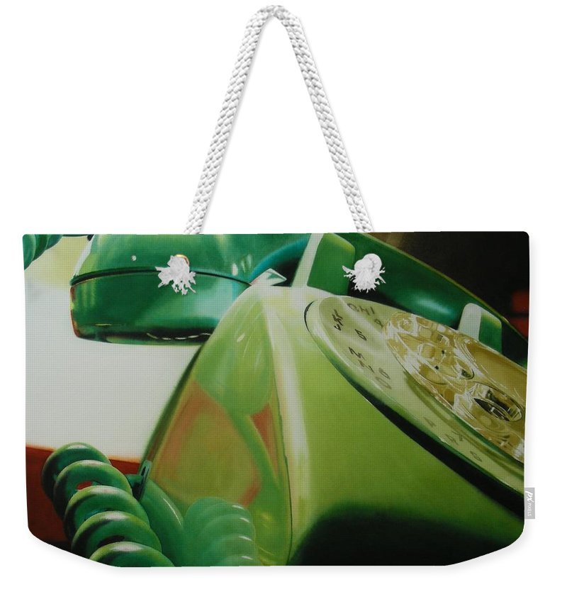 Telephone Weekender Tote Bag featuring the painting Rotary by Denny Bond