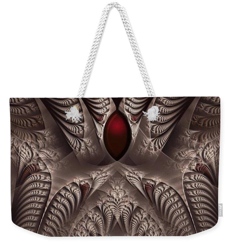 Fractal Weekender Tote Bag featuring the digital art rotl_01 Lord Of the Soil by Drasko Regul