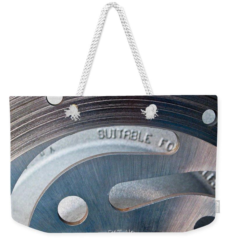 Rotor Weekender Tote Bag featuring the photograph Rotor by Julie Niemela