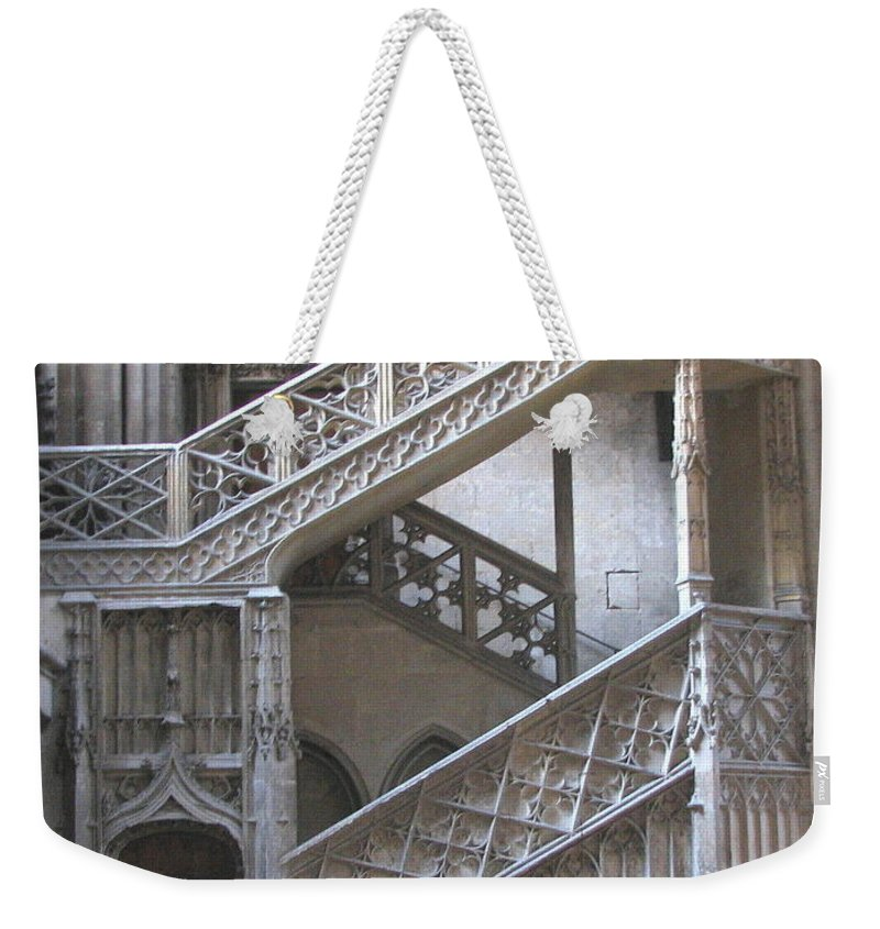 Stonework Weekender Tote Bag featuring the photograph Rouen France by Mary Ellen Mueller Legault