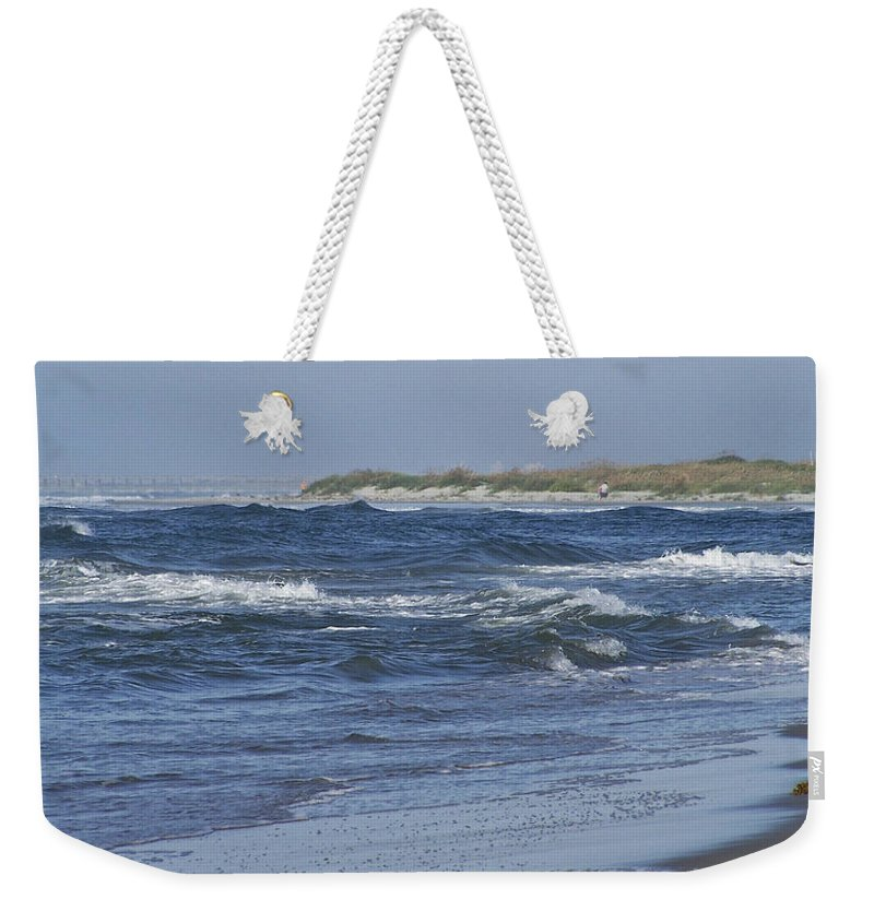 Ocean Weekender Tote Bag featuring the photograph Rough Day at the Beach by Teresa Mucha