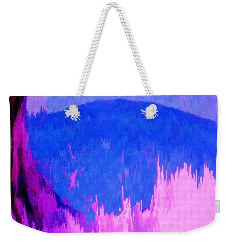 Abstract Weekender Tote Bag featuring the digital art Rough Seas In Dominica by Ian MacDonald