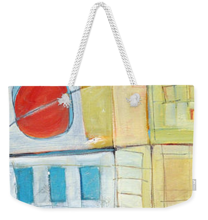 House Weekender Tote Bag featuring the painting Rowhouse No. 2 by Tim Nyberg