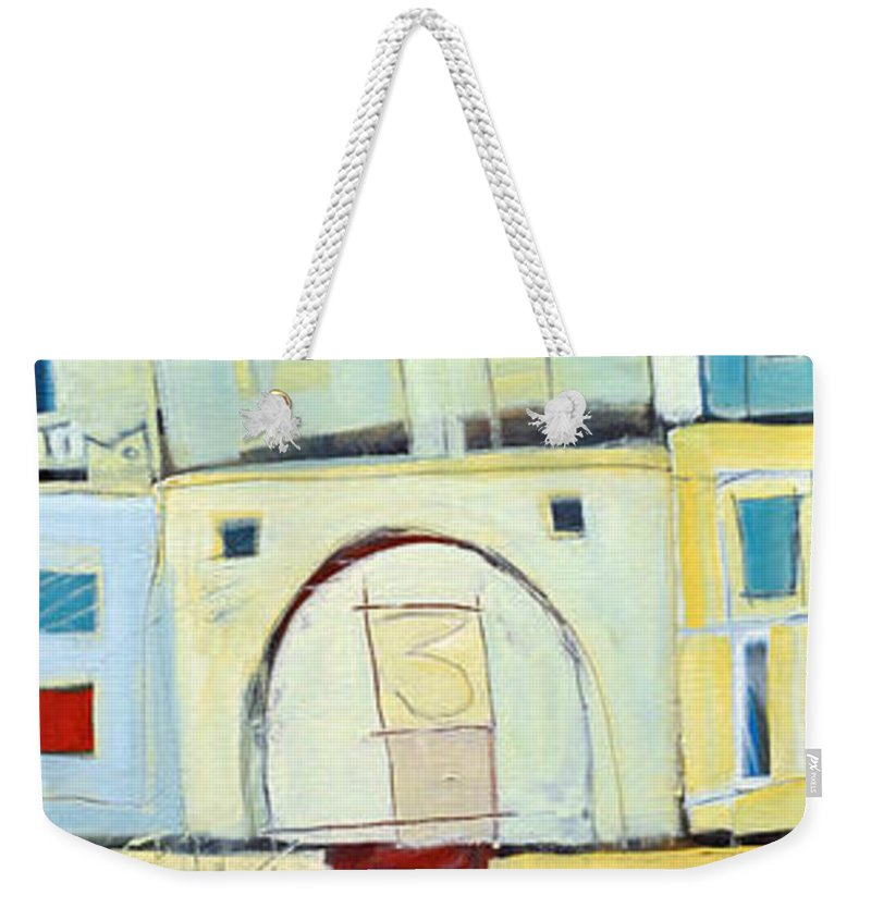 House Weekender Tote Bag featuring the painting Rowhouse No. 3 by Tim Nyberg