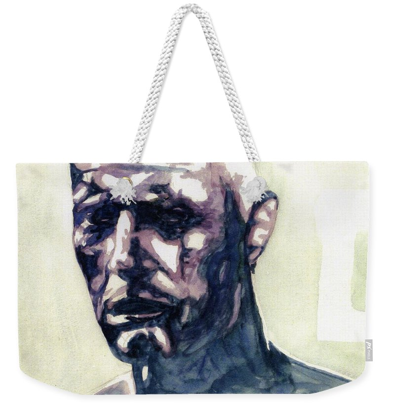 Roy Batty Weekender Tote Bag featuring the painting Roy # 5 by Mark Benton