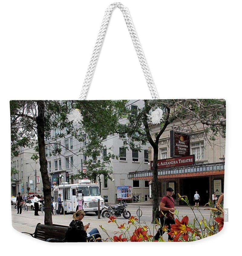 Royal Alexander Theatre Weekender Tote Bag featuring the photograph Royal Alex by Ian MacDonald