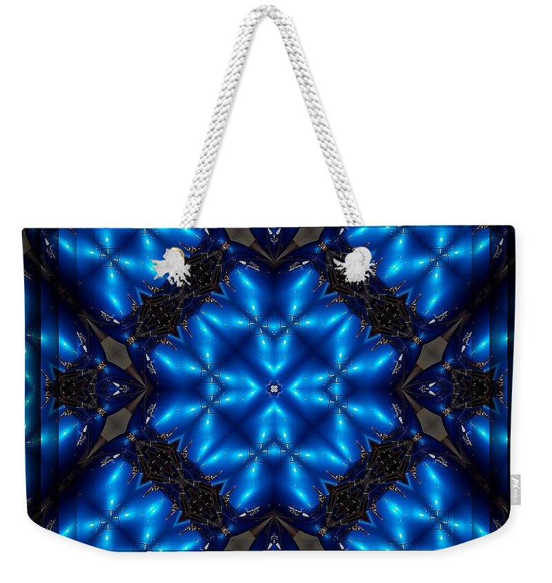 Spear Weekender Tote Bag featuring the digital art Royal Blue by Robert Orinski