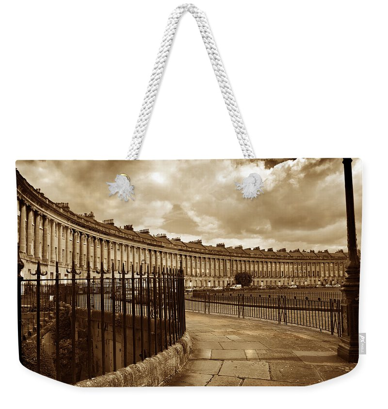 Bath Weekender Tote Bag featuring the photograph Royal Crescent Bath Somerset England Uk by Mal Bray
