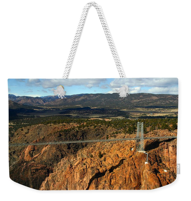 Royal Gorge Weekender Tote Bag featuring the photograph Royal Gorge by Anthony Jones