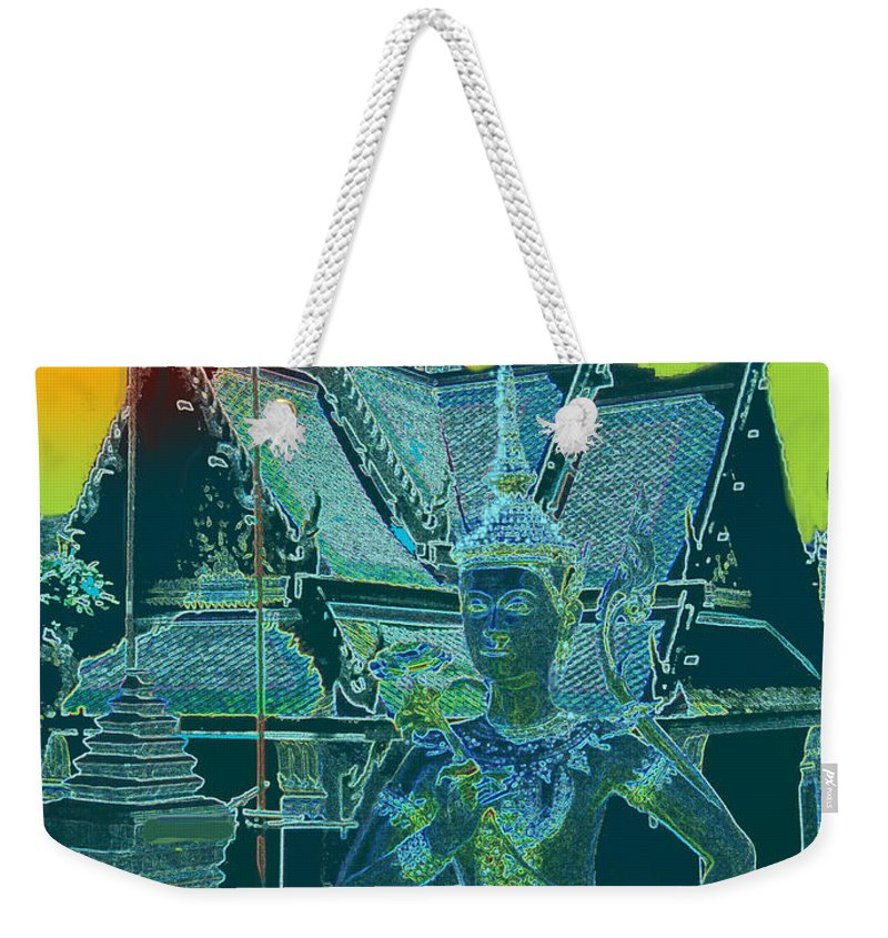 Palace Weekender Tote Bag featuring the photograph Royal Palace Bangkok by Ian MacDonald