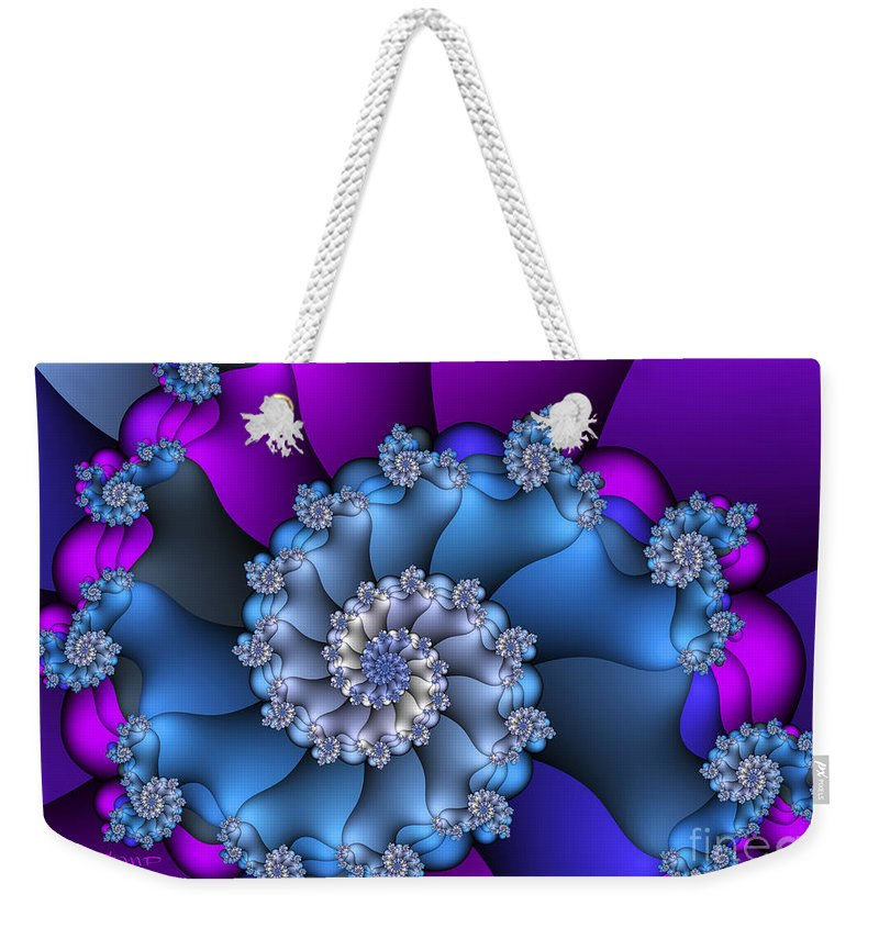 Fractal Weekender Tote Bag featuring the digital art Royal Secret by Jutta Maria Pusl