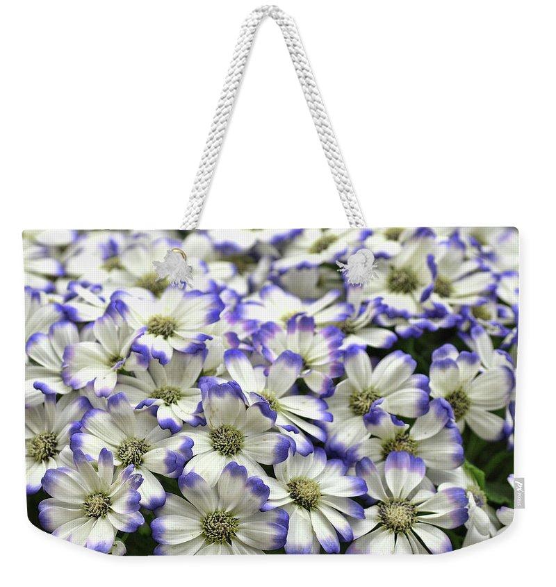 Flower Weekender Tote Bag featuring the photograph Royal Tips by JAMART Photography