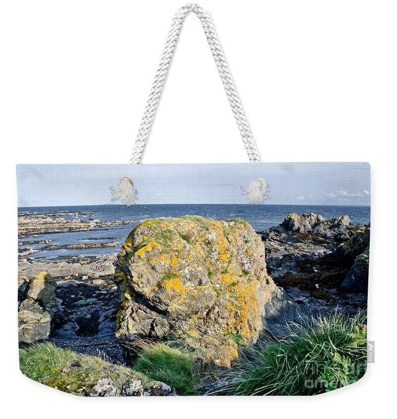 Ruby Bay Weekender Tote Bag featuring the photograph Ruby Bay. Boulder. by Elena Perelman
