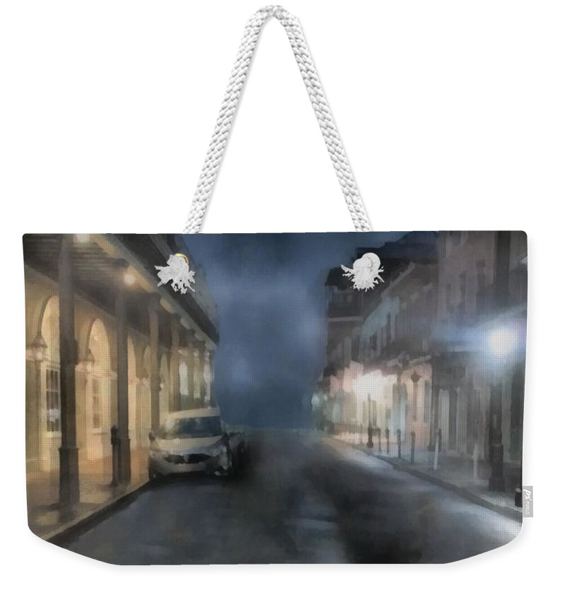 Landscape Weekender Tote Bag featuring the painting Rue Brumeuse by RC DeWinter