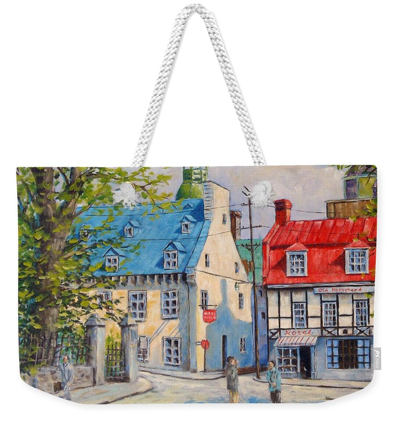 Ste Anne Weekender Tote Bag featuring the painting Rue Ste Anne 1965 by Richard T Pranke