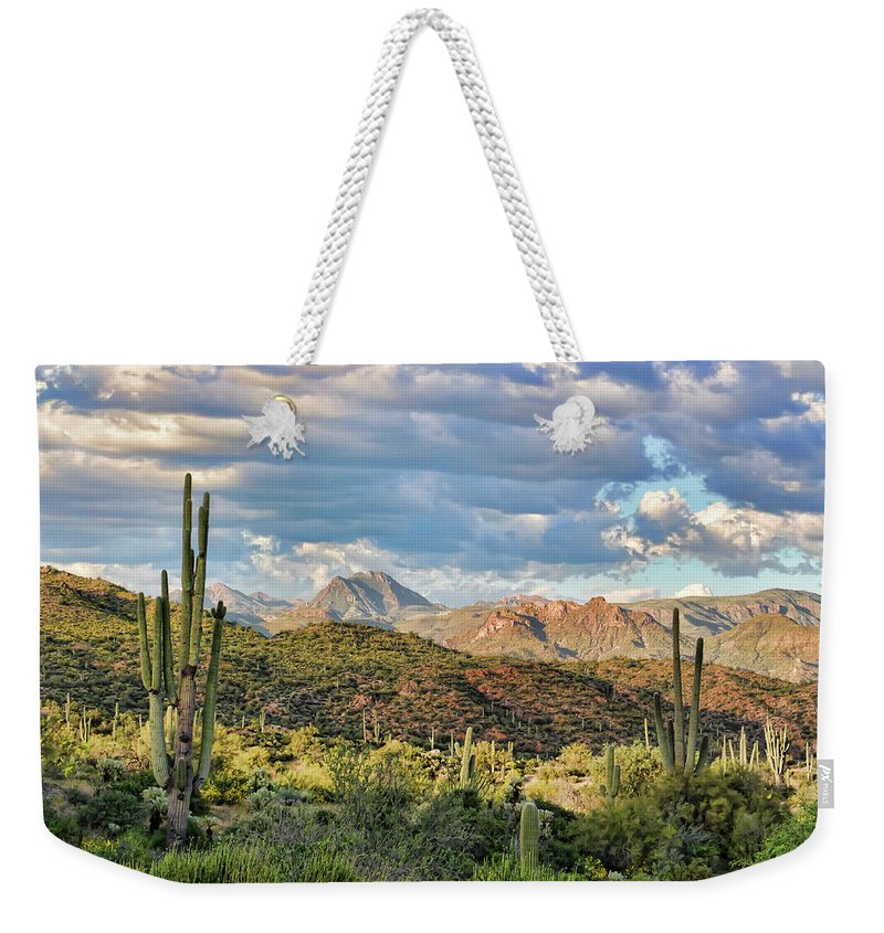 Arizona Weekender Tote Bag featuring the photograph Rugged Beauty by Ryan Seek