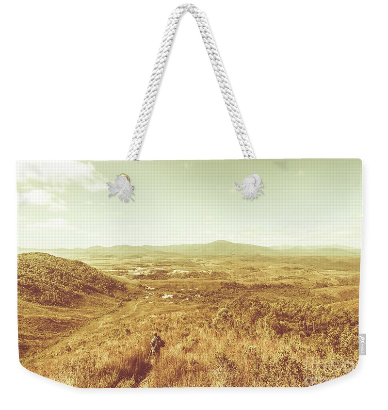 Hiking Weekender Tote Bag featuring the photograph Rugged Bushland View by Jorgo Photography - Wall Art Gallery
